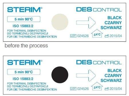 DES CONTROL  kontrola dezynfekcji termicznej (90°C / 5 min.)