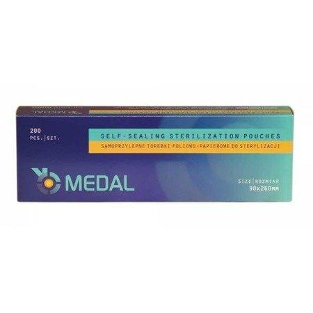Torebki do sterylizacji MEDAL 90x260 mm